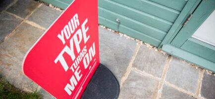 Pavement Sign Park Royal